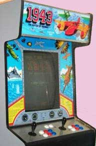 1943 Battle of Midway Arcade Game Cabinet