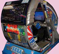 After Burner Arcade Game Cabinet Sitdown Version