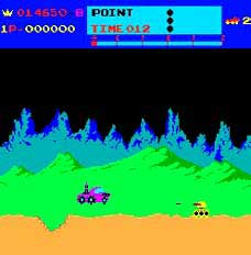 Moon Patrol Arcade Game