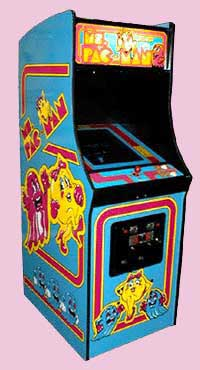 Ms. Pac Man Game Cabinet