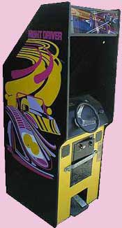Night Driver 1970's Arcade Game Cabinet