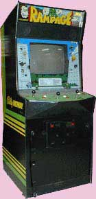 Rampage Game Cabinet