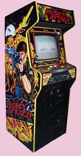 Rush N Attack and Green Beret Arcade Game Cabinet
