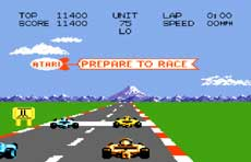 Atari 7800 Pole Position Game