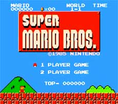 NES Super Mario Brothers Game