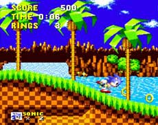 Sega Genesis Sonic the Hedgehog Game