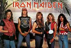 Iron Maiden Hair Metal Band