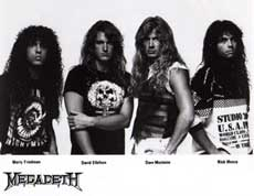 Megadeth Hair Metal Band