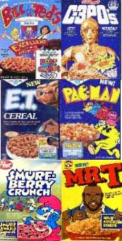 Breakfast Cereals of the 1980's