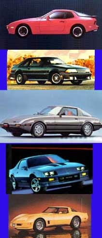 Sports Cars of the 1980's