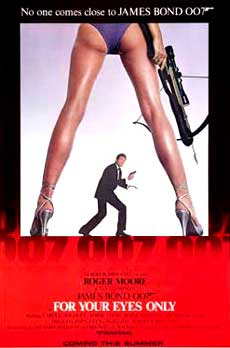 James Bond For Your Eyes Only Movie Poster