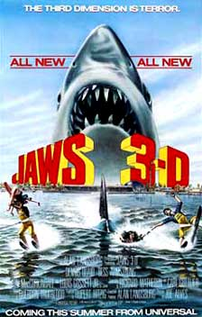 Jaws 3-D Movie Poster