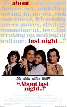 About Last Night Movie Poster 1986